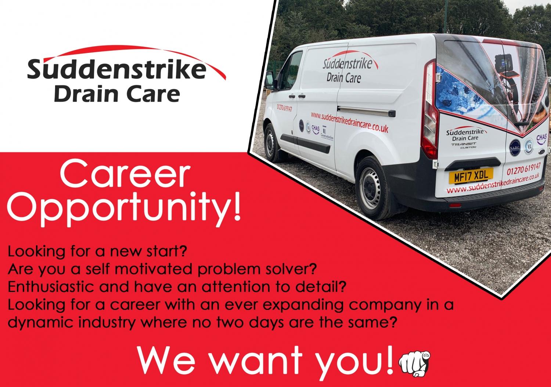 Facebook Drain Care Job Advert 1500x1054 - Drain Care Technician