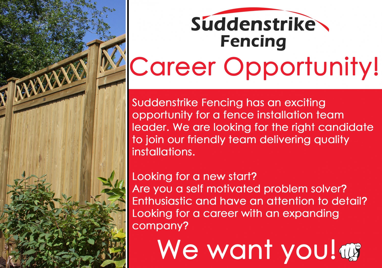 Facebook Fencing Job Advert 1500x1054 - Fence installation team leader